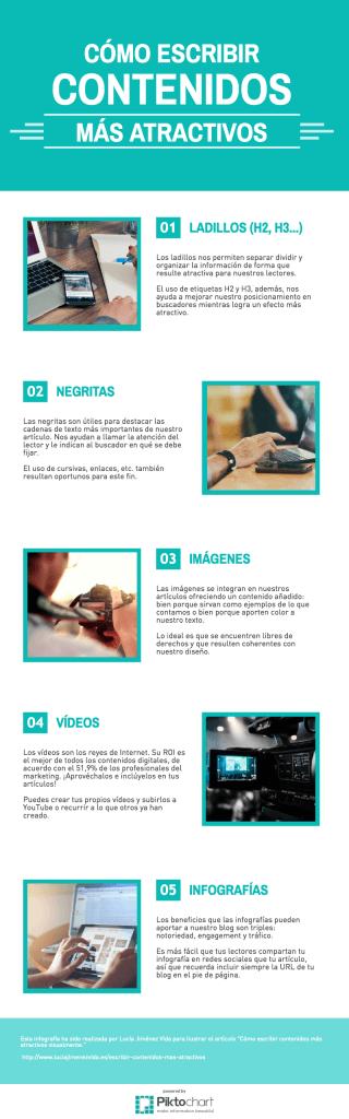 [Infografía] Cómo escribir contenidos más atractivos visualmente