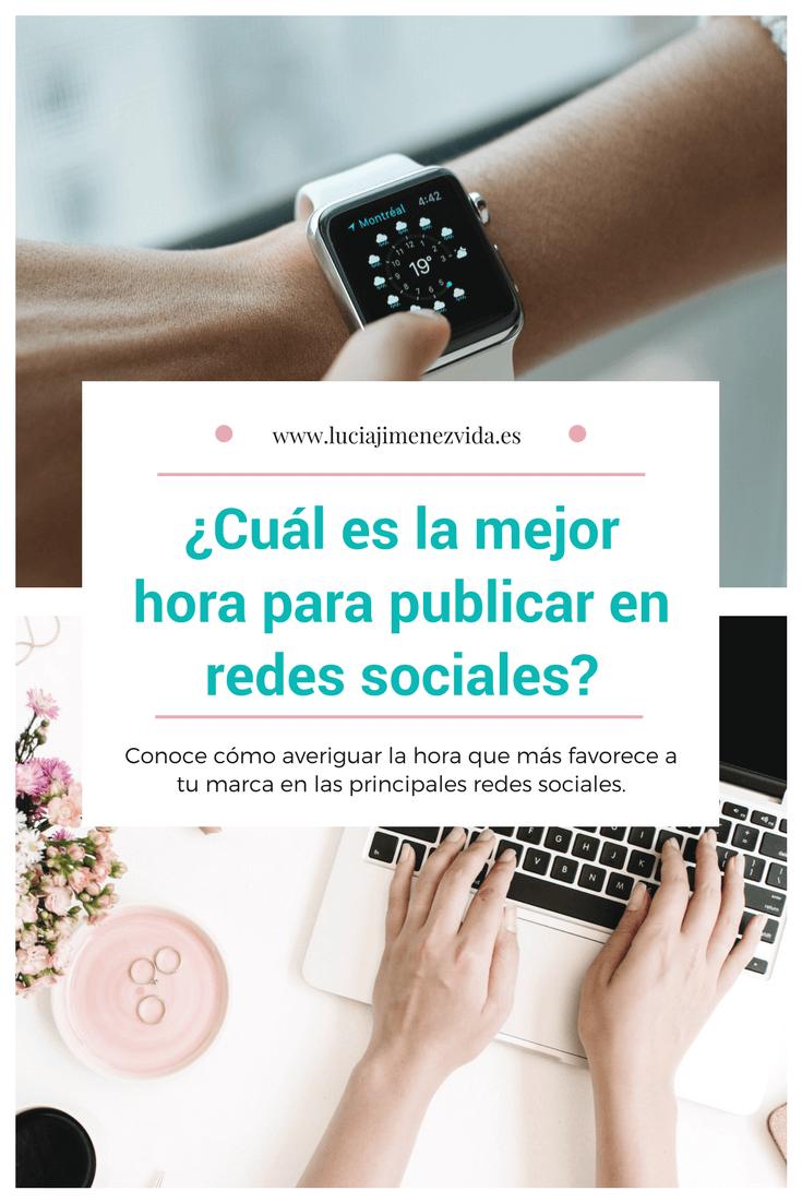 Descubre cuál es la mejor hora para publicar en redes sociales con tu marca