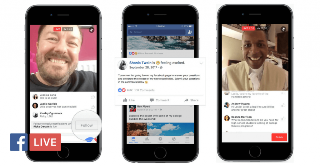 Facebook Live para ganar interacciones en redes sociales