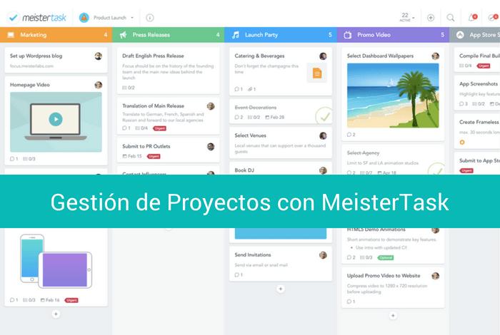 Gestión de proyectos con MeisterTask