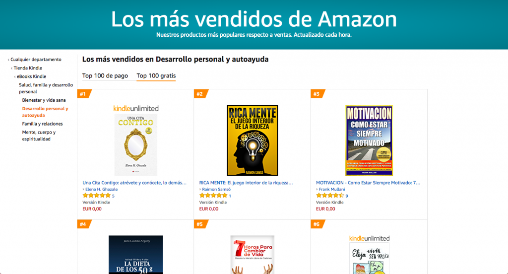 Publicar en Amazon: llegar al número 1