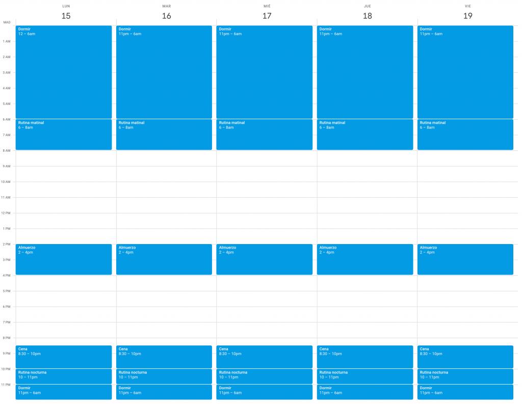 Planificar tareas con Google Calendar